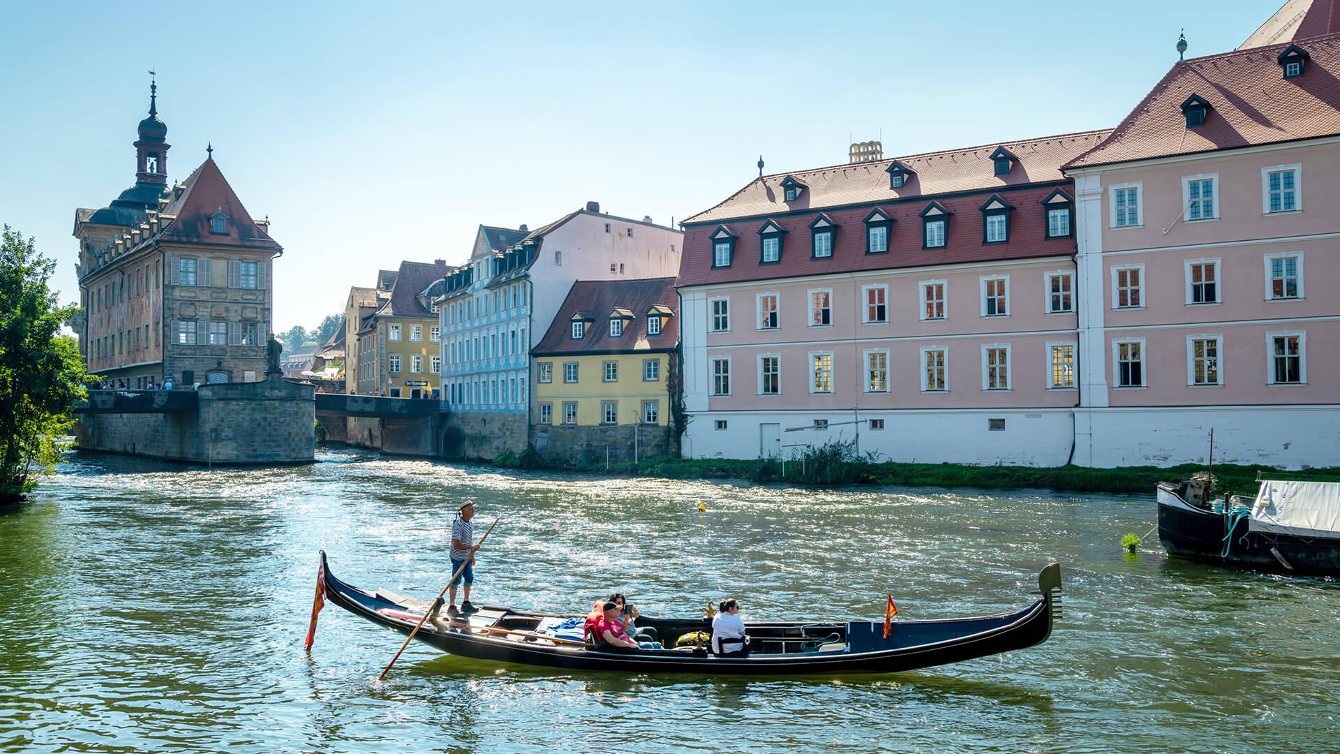 Bamberg: balade en gondole à travers Bamberg sur le Regnitz