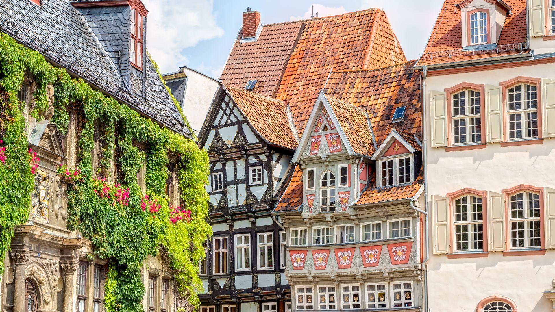 Quedlinburg: Altstadt Häuserfassade